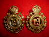 MM91 - 19th St Catherines Regiment Collar Badge Pair, 1904 issue