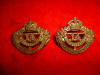 MC24 - King's Canadian Hussars, Cap / Collar Badge Pair