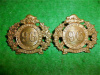 MM259 - 96th Lake Superior Regiment Collar Badge Pair