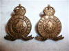 M144A - 44th Lincoln and Welland Regiment Officer's Bronze Collar Badge Pair