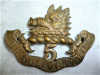 5th Royal Scots of Canada Glengarry Badge, 1900-1904