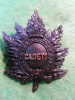 CD43 - 2nd Queen's Own Rifles of Canada Cadets Glengarry Badge circa 1913