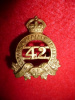 MM140A - 42nd Lanark & Renfrew Regiment, 2nd Type, Collar Badge