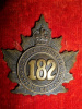 182nd Battalion (Ontario County) Cap Badge.