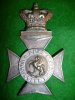 East Kent Volunteer Rifles QVC Officer's Cast Silver PBP Badge