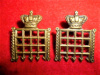 16th Bn London Regiment (Queen's Westminster Rifles) Victorian Collar Badge Pair